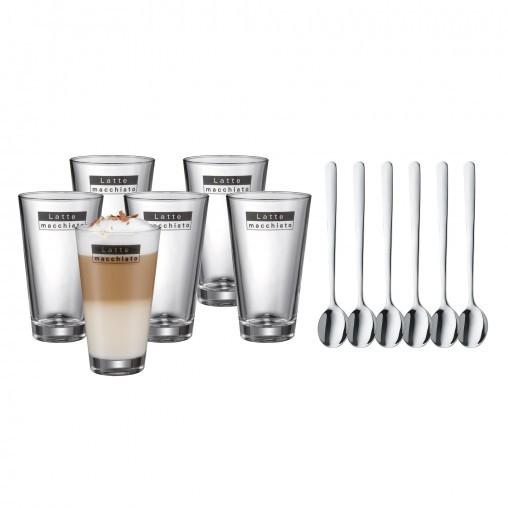 WMF 996269999, Latte Macchiato 6er Set mit Löffel