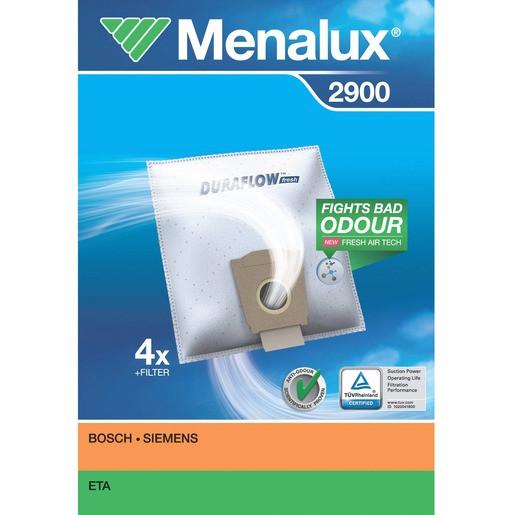 Menalux 2900 F.BOSCH-SIEMENS STAUBBEUTEL 4STK+1MICROFILTER