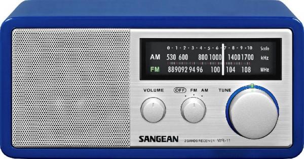 Sangean Sagean WR11,UKW-Radio,Blau