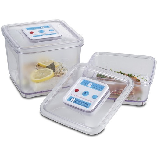 Solis Vakuumbehälter, quadratisch, ABS-Kunststoff, 2-teilig