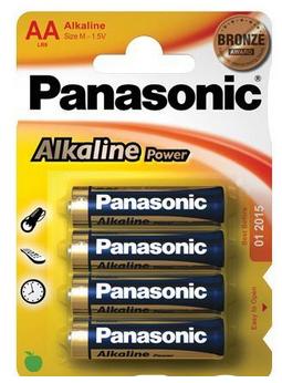 Wentronic LR6 4-BL Panasonic Alkaline Power Alkali 1.5V Nicht wiederaufladbare Batterie