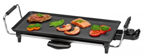 Clatronic TYG 3608, Teppanyaki Grill, japanisches Grillen am Tisch, 45cm lange Grillfläche, 2000 W
