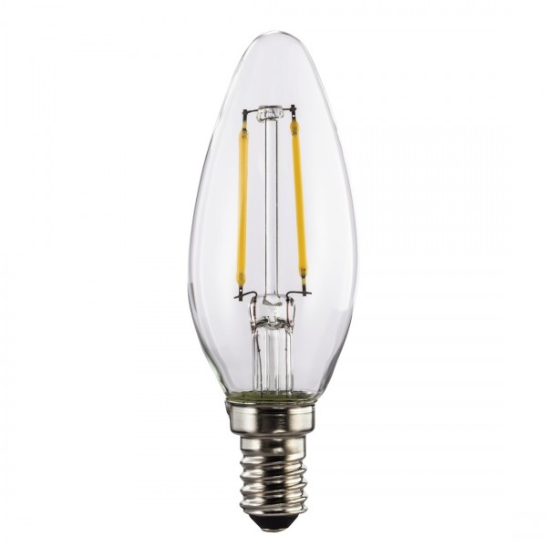 Hama LED-Filament, 112555, E14, 250lm - ersetzt 25W Kerzenlampe, warmweiß