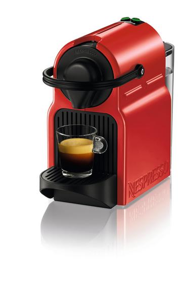 Krups Inissia XN1005 Ruby Red Freistehend Pad-Kaffeemaschine 0.7l Rot