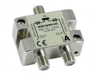 Kathrein EBC 10 F 2xF Silber Kabelschnittstellen--adapter