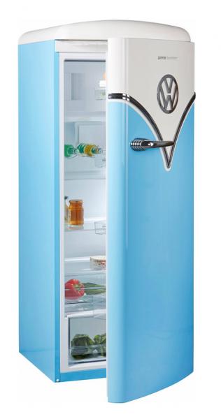 Gorenje OBRB153BL Kühlschrank, freistehend, Türanschlag rechts, baby blue