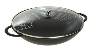 Zwilling Wok, 40509-398-0, Staub Gusseisen FR, rund, 37 cm, schwarz, Staub Specialities