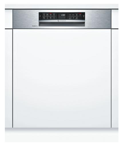 Bosch Serie 6 SMI68MS04E teilintegrierter Geschirrspüler, 60cm, Edelstahl, Einbau-Geschirrspüler