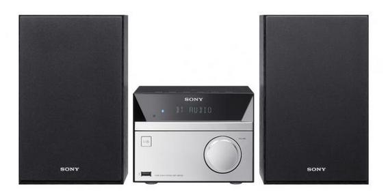 Sony CMTSBT20 Home audio micro system 12W Schwarz, Silber Home-Stereoanlage