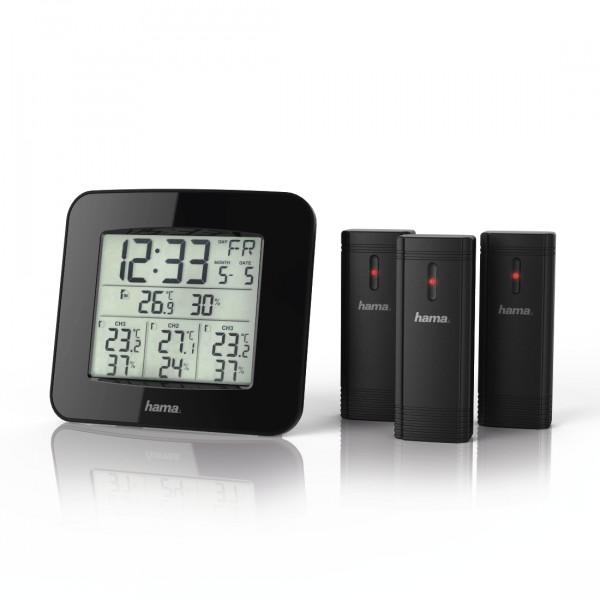 Hama Wetterstation 186311 EWS-Trio mit drei Sensoren schwarz