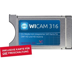WISI Irdeto CI+ Modul mit integrierter Smart-Card ORF, Wisi