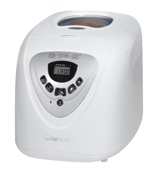 Clatronic BBA 3505 ws, Brotbackautomat, 12 Programme, LCD Display, 600 W