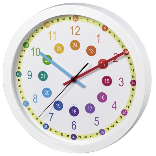 Hama Kinder-Wanduhr Easy Learning 00186395 Durchmesser 30 cm geräuscharm