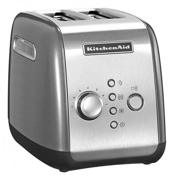 KitchenAid 5KMT221 2Scheibe(n) 1100W Grau, Silber Toaster