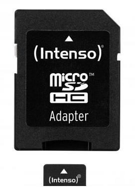 Intenso Micro SD Card 8GB Class 10 inkl. SD Adapter