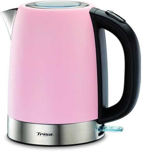 Trisa Wasserkocher Retro Line, rosa, schnurlos