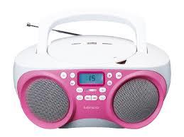 Lenco Radio SCD-301 pink-weiß