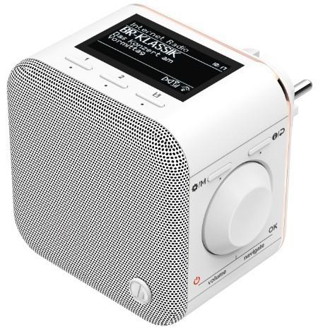 Hama Internetradio, IR40MBT-PlugIn, Bluetooth Multiroom App-Steuerung