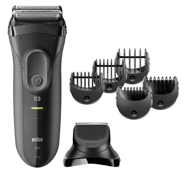 Braun Series 3 3000BT shave n style Nass &amp, Trocken Grau Barttrimmer