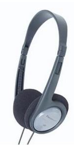 Panasonic RP-HT090E Schwarz, Grau Ohraufliegend Kopfband Kopfhörer