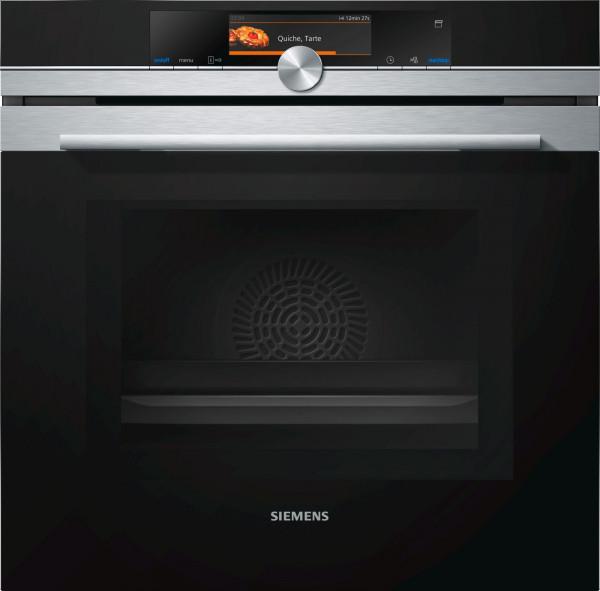 Siemens iQ700 HN678G4S6 Einbau-Backofen mit Mikrowellen- und Dampffunktion Edelstahl