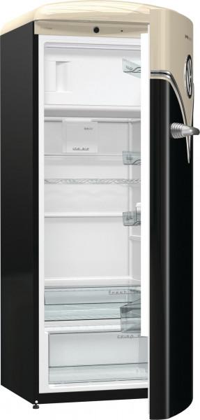Gorenje Stand-Kühlschrank, OBRB153BK, Old Timer, schwarz