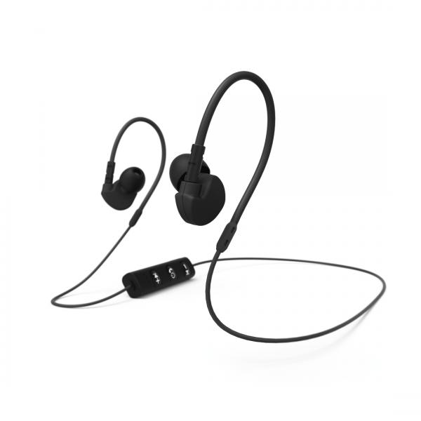 Hama Clip-On-Sport-Ohrhörer, schwarz,