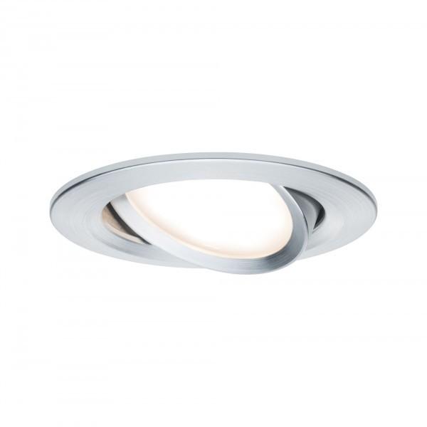 Paulmann LED 1x6,8W Al, Prem EBL Coin Slim rd schw,