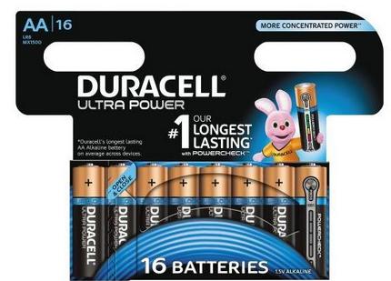 Duracell MX 1500 Ultra Power-Mignon 16-er mit Powercheck (wiedervers