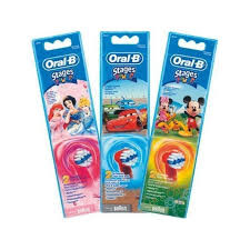 Braun Ersatzbürste 746249, für Kinder!!! 2er,Oral B,Stages,