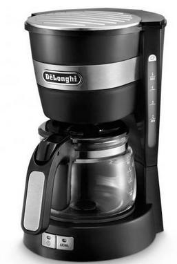 DeLonghi Kaffeemaschine ICM14011.BK schwarz silber