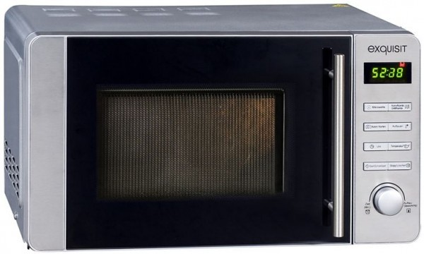 Exquisit Mikrowelle, MW8020H, Grill & Heissluft, Inox