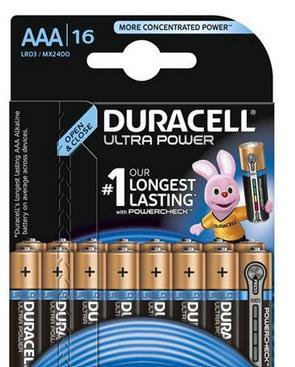 Duracell MX 2400 Ultra Power-Micro 16-er mit Powercheck (wiederver