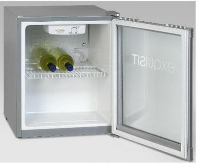 Exquisit KB 01 G Getränke-Kühlschrank, Stand, Kühlbox, Glastür, 51 x 44 cm
