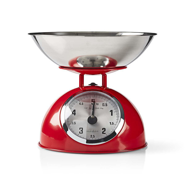 Nedis Küchenwaage, KASC110RD, retro, rot, analaog