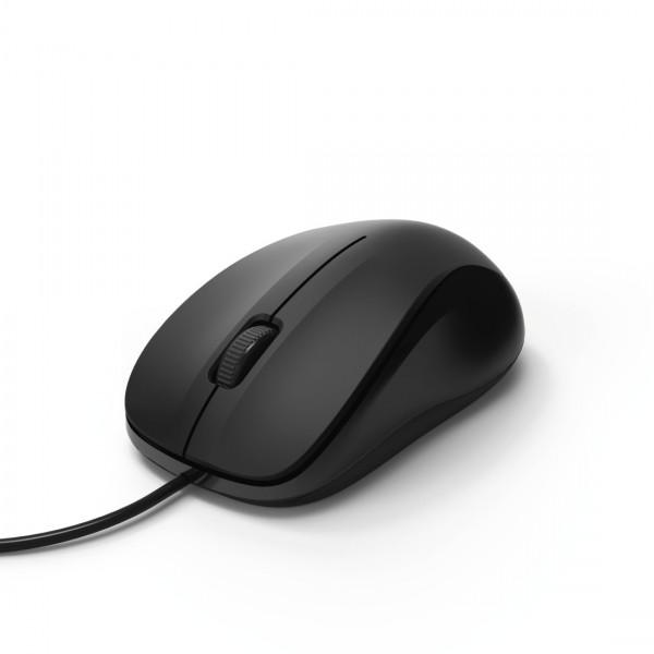 Hama Optische 3-Tasten-Maus, MC-300, schwarz, kabelgebunden