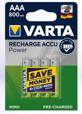 Varta AAA Ready2Use Accu, 800 mAh, 1,2V, 4 Stück