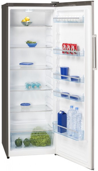 Exquisit Stand-Kühlschrank, KS350-4A.3++Inox Look,