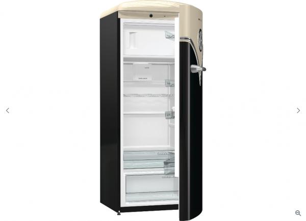 Gorenje OBRB153BK Stand-Kühlschrank, Old Timer, schwarz