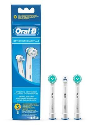 Braun Ersatzzahnbürsten Ortho Care Essentials Kit 3er OralB,