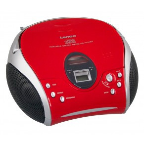 Lenco CD-RadioSCD24rot-schwarz