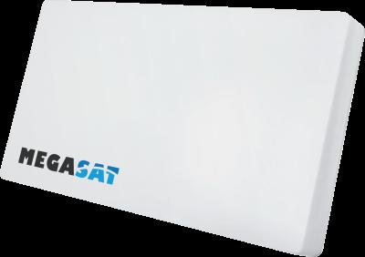 Megasat Flachantenne Dual-LNB D2 inkl. Wand- Mast- Fensterhalterung